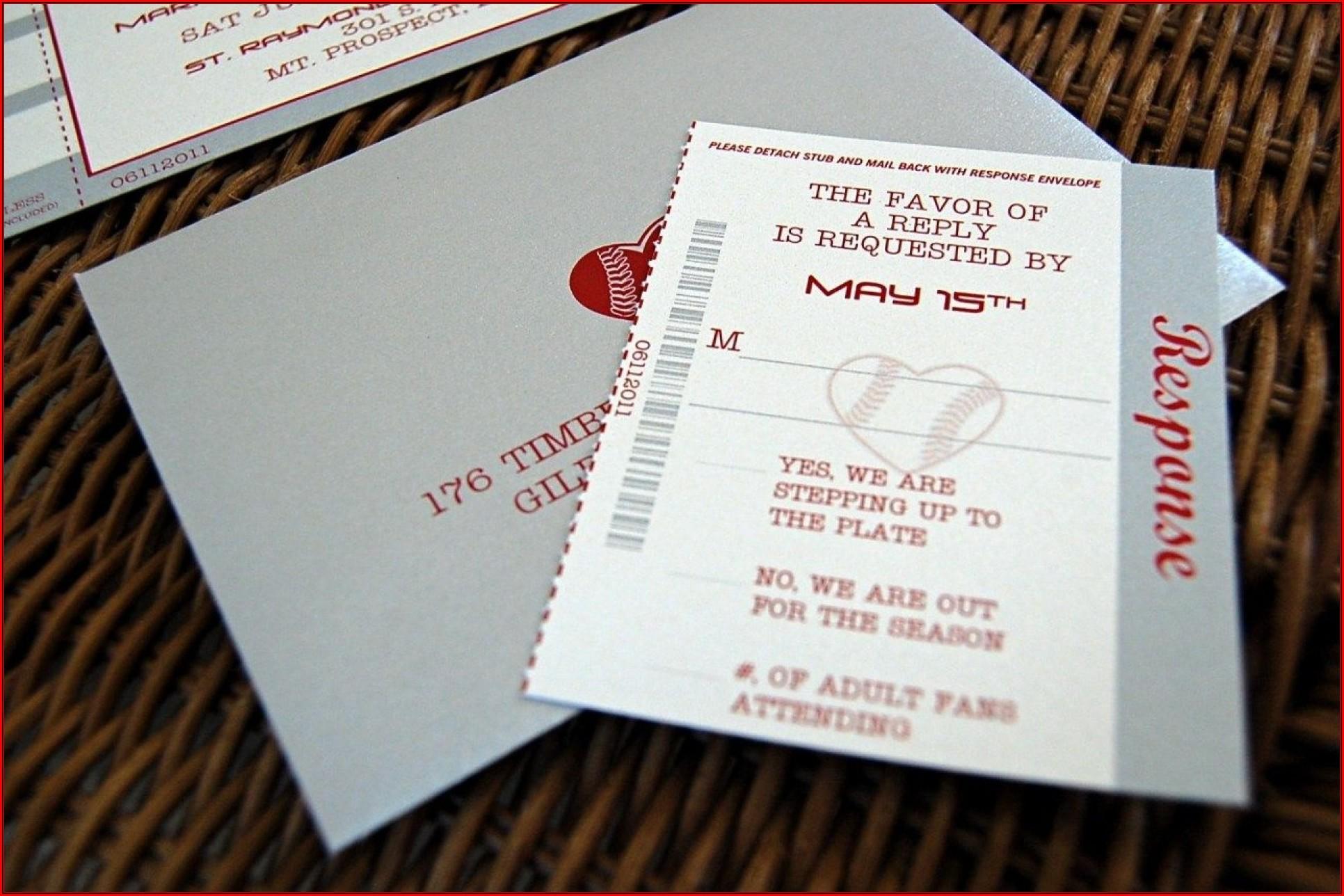 Baseball Wedding Invitation Templates