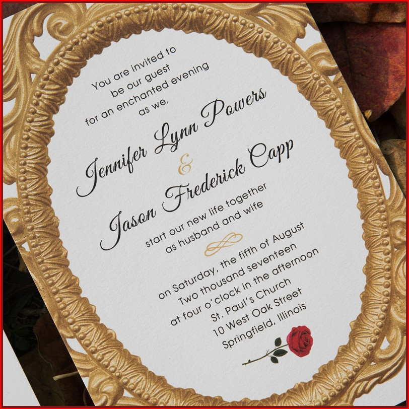 Beauty And The Beast Invitation Template Free