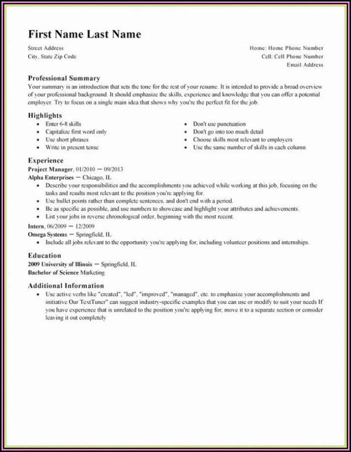 Best Absolutely Free Resume Builder