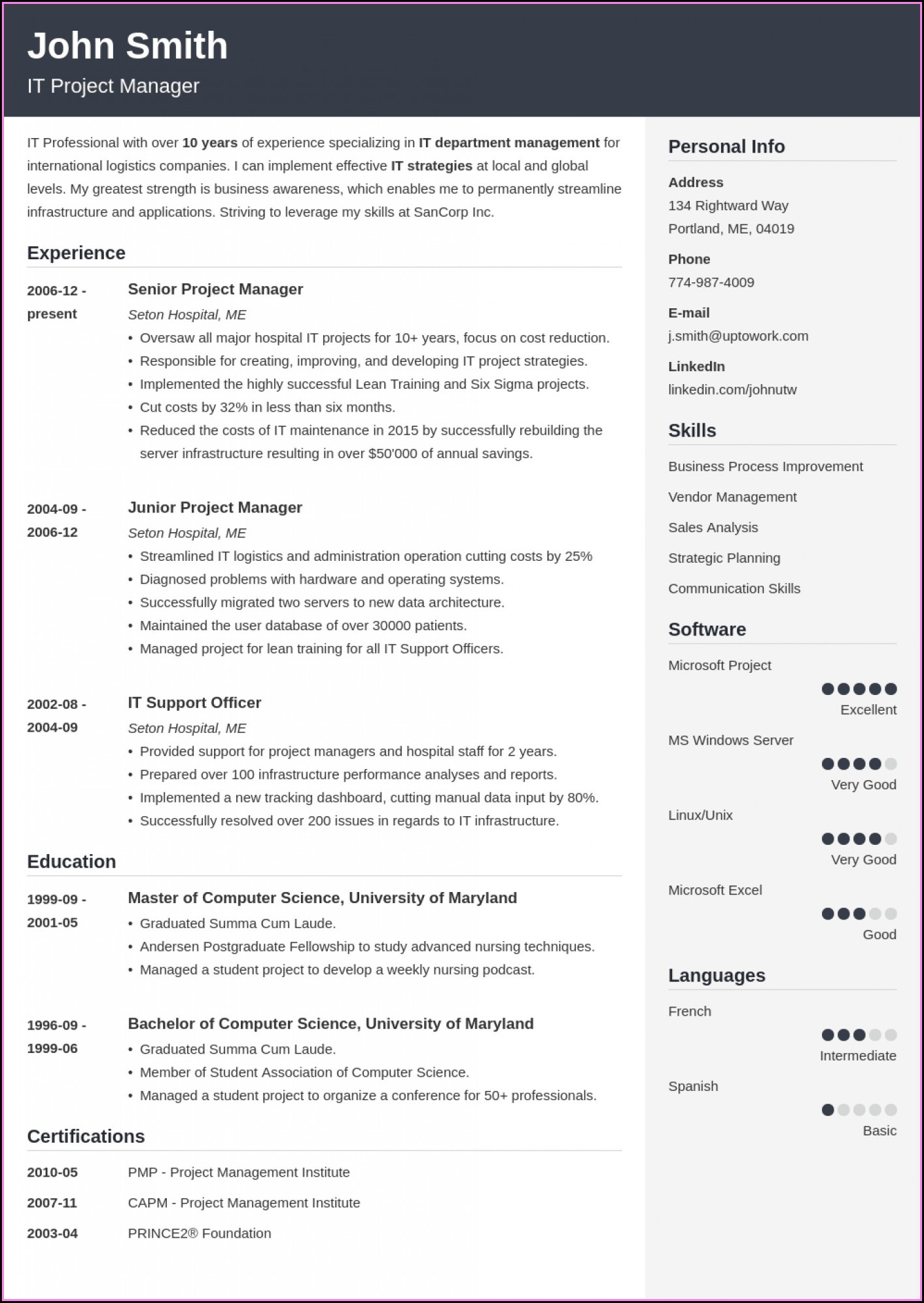 Best Free Modern Resume Builder
