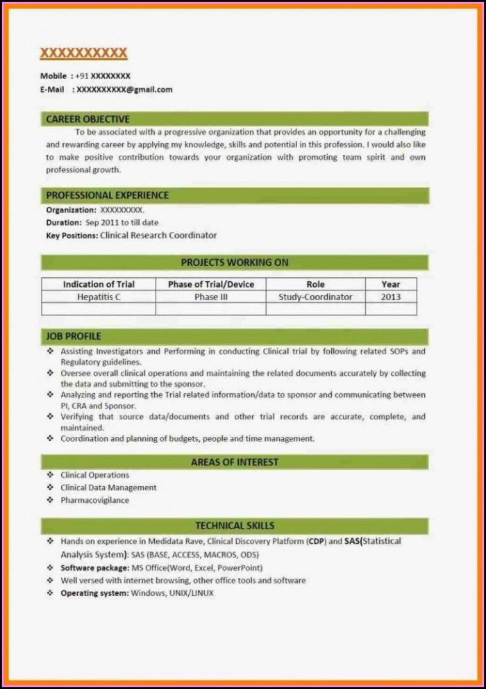 Best Resume Format 2018 Free
