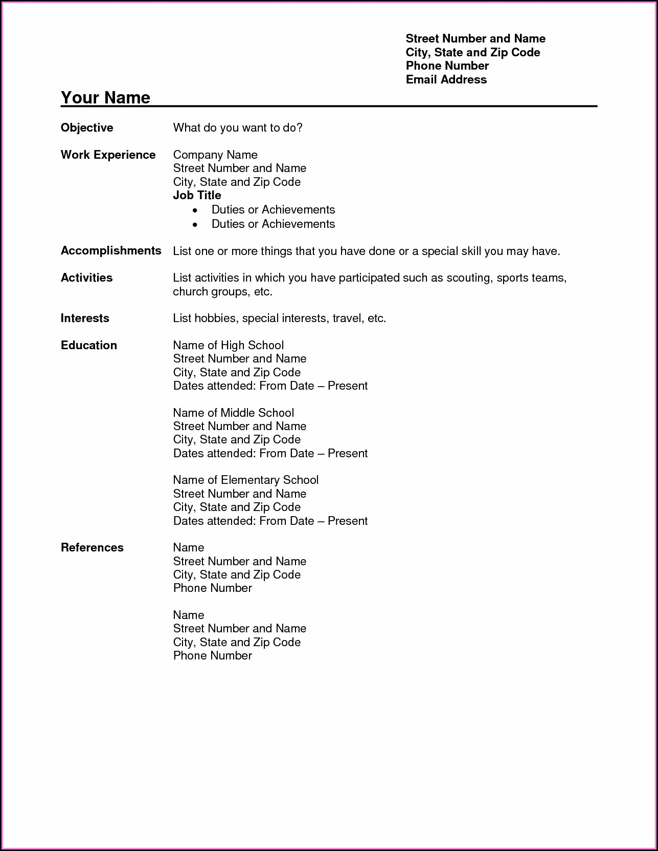 Best Resumes Pdf Free Download