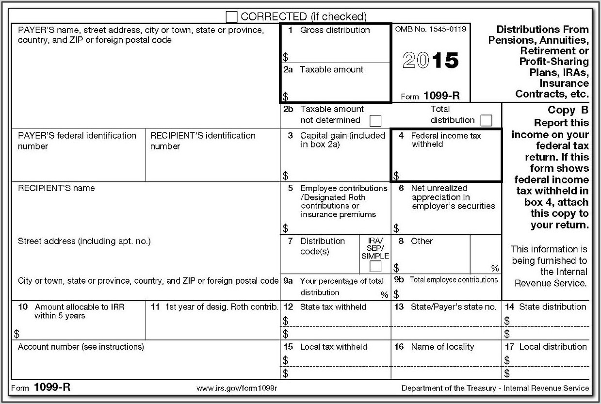 Blank 1099 Forms