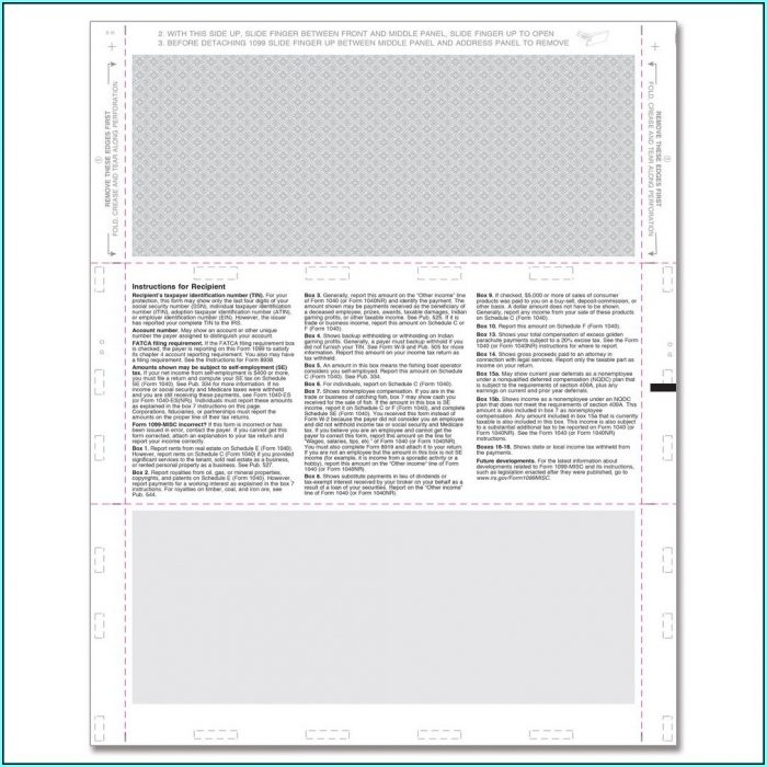 Blank 1099 Misc Forms