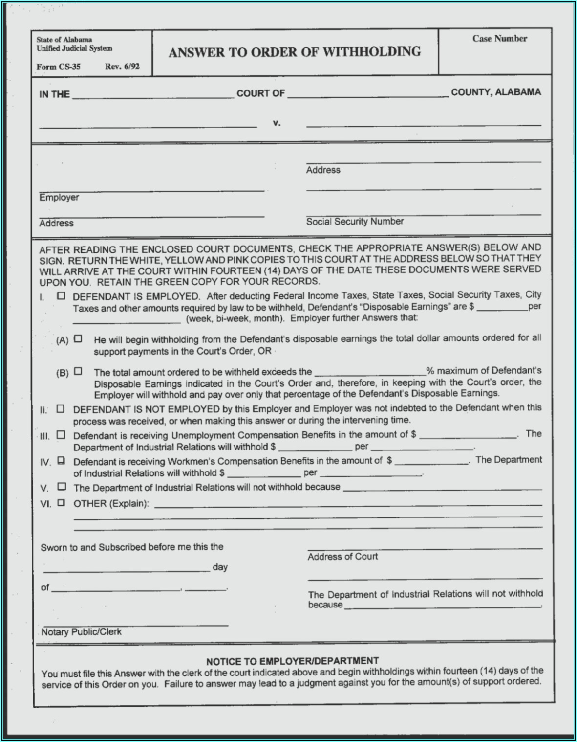 Blank Divorce Decree Forms