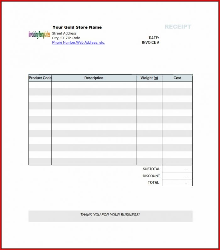 Blank Invoice Template Microsoft Word
