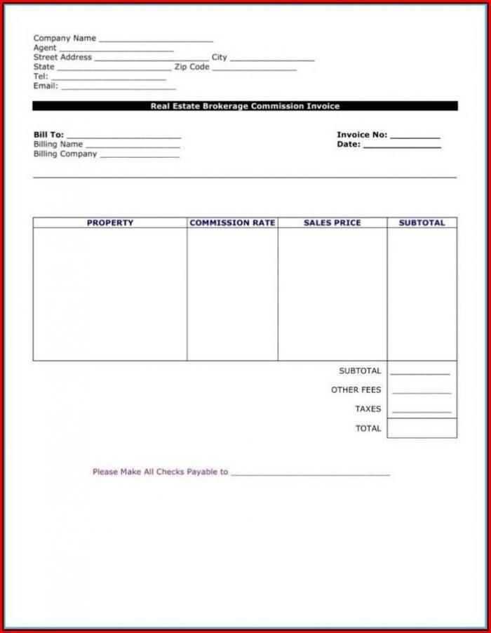 Blank Invoice Templates Word
