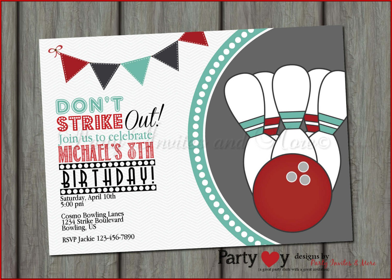 Bowling Invitation Template Free