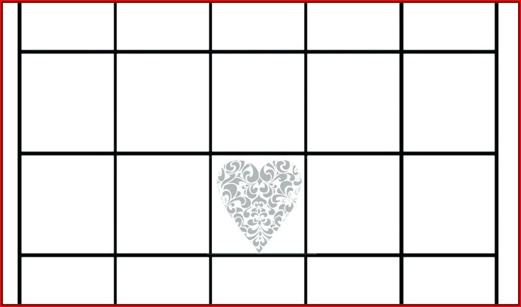 Bridal Shower Bingo Template Blank Free