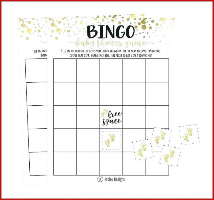 Bridal Shower Bingo Template Generator