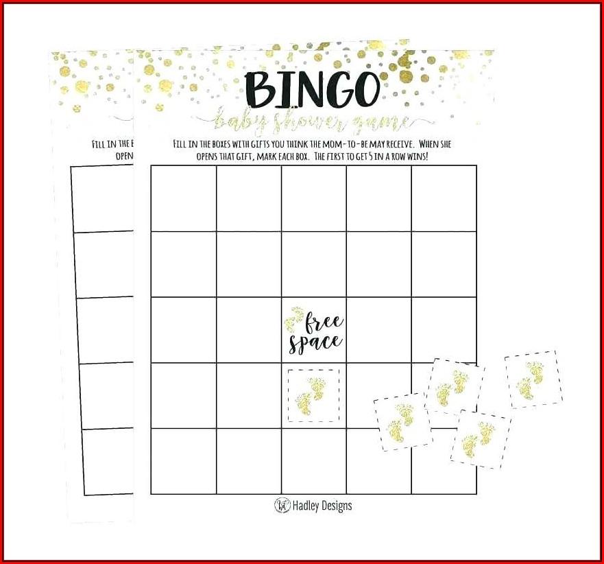 Bridal Shower Bingo Template Generator