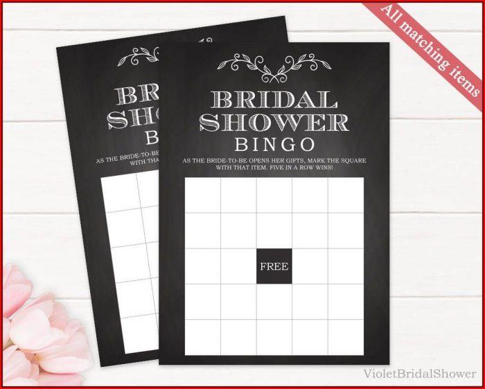 Bridal Shower Bingo Template Printable
