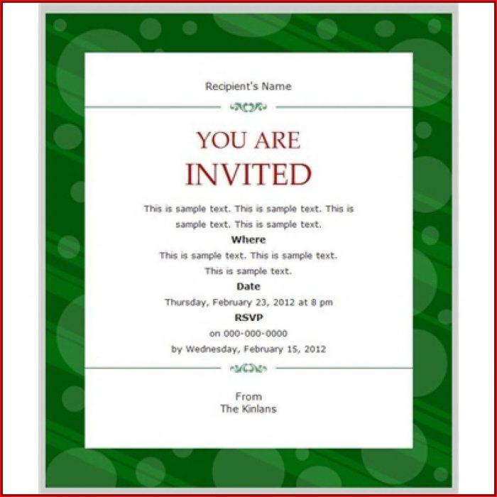 Business Event Invitation Templates