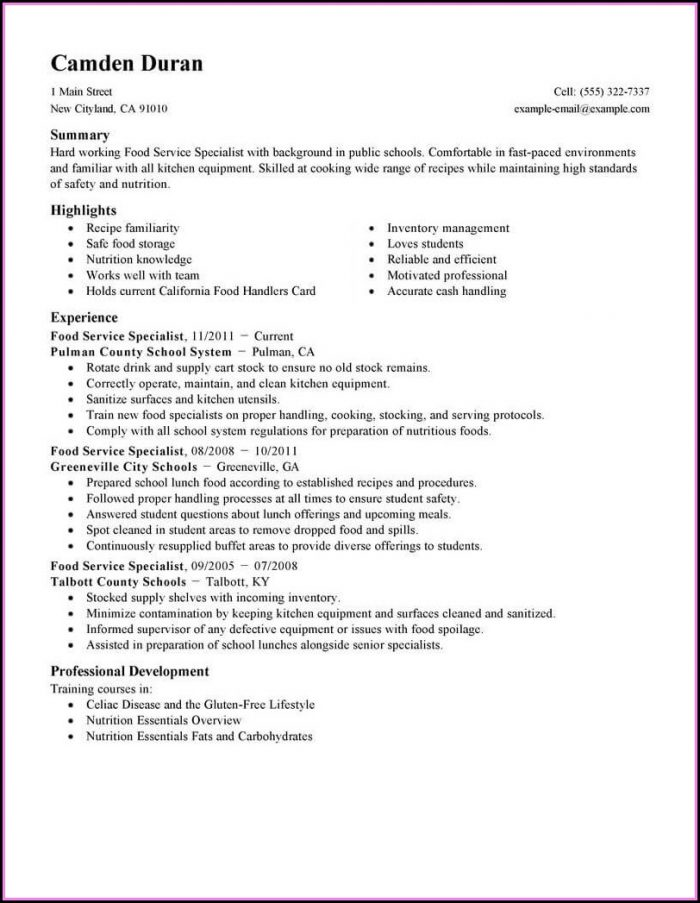 Business Resume Template Microsoft Word