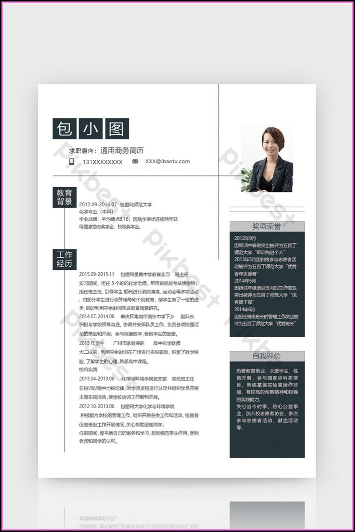 Business Resume Template Word Download