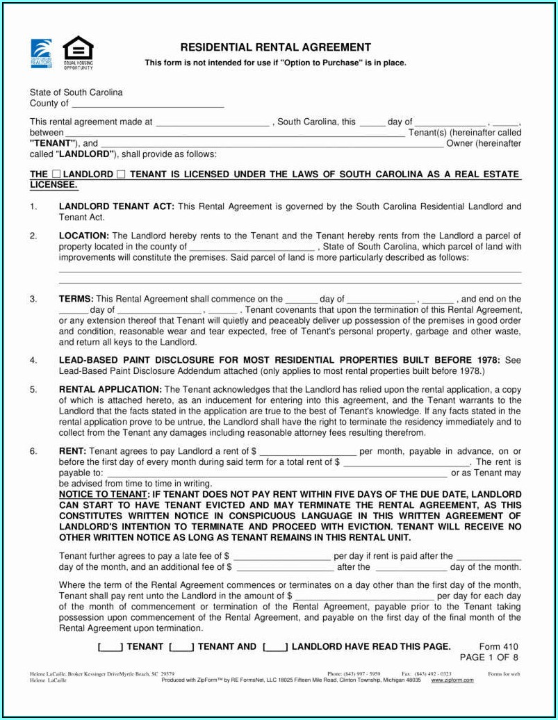 California Association Of Realtors Rental Form