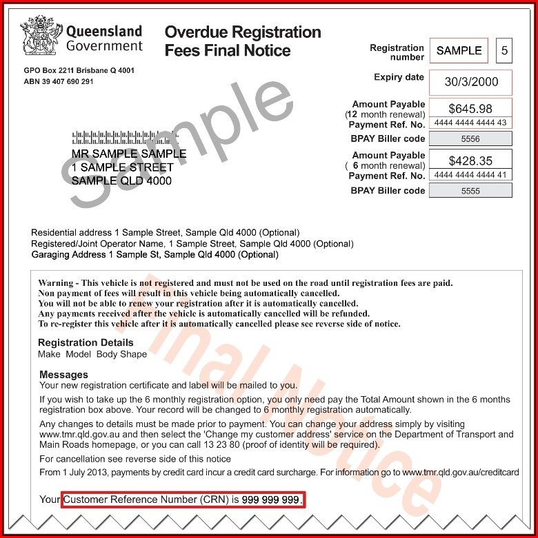 Car Sale Receipt Template Qld