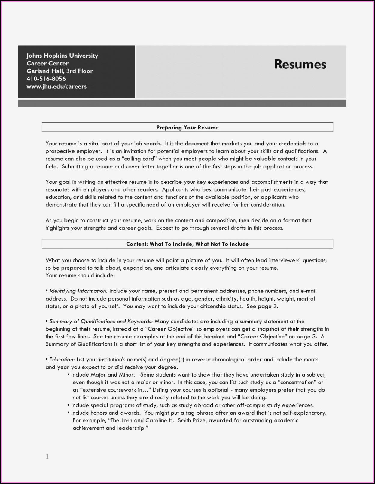 Careerbuilder Resume Format
