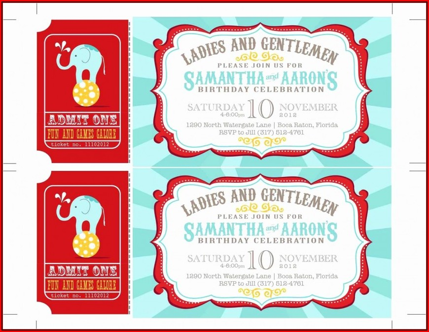 Carnival Invitation Template Free Download