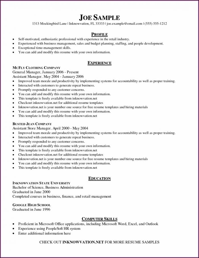 Carpenter Cv Template