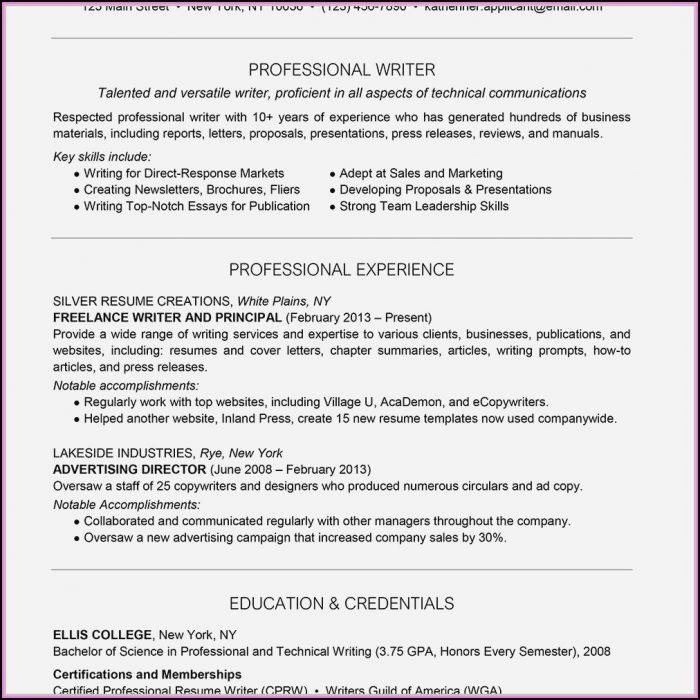 Certified Professional Resume Writer (cprw) Designation