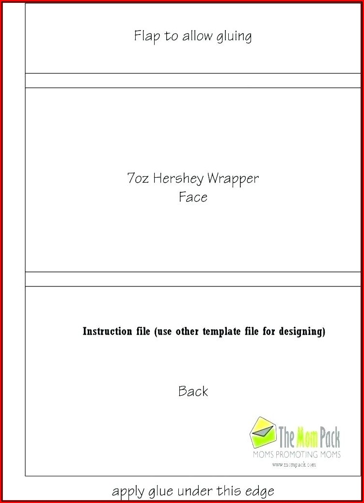 Chocolate Bar Wrapper Template Publisher