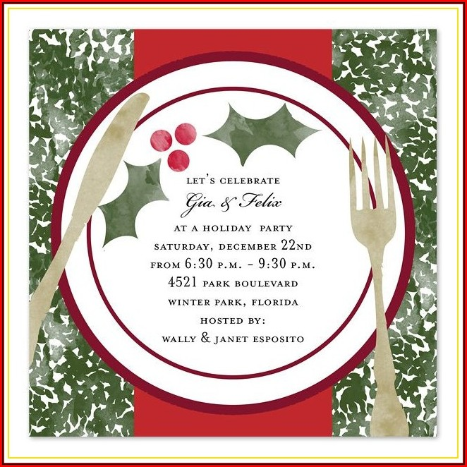 Christmas Dinner Invitation Sample
