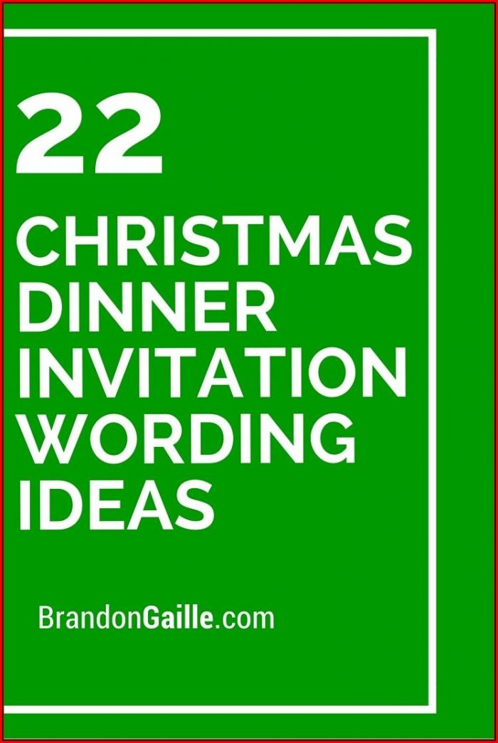 Christmas Dinner Invitation Wording