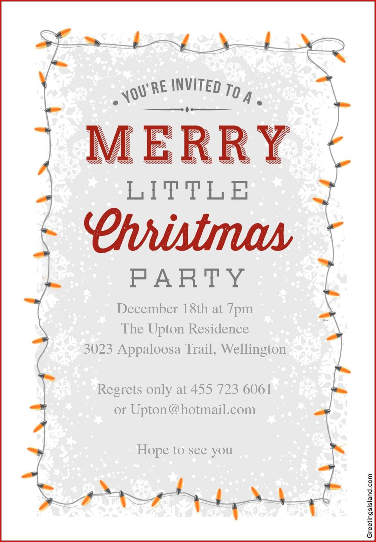 Christmas Dinner Invitation Wording Business