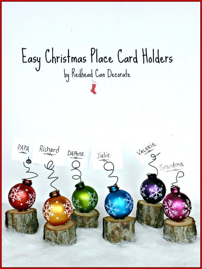Christmas Place Cards Template Free Download