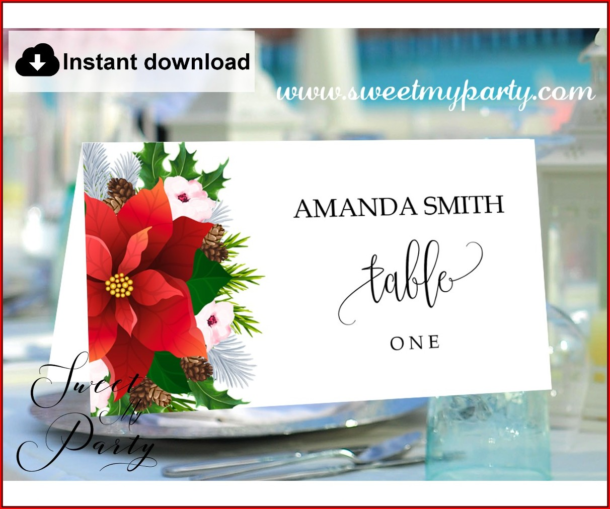 Christmas Place Cards Template