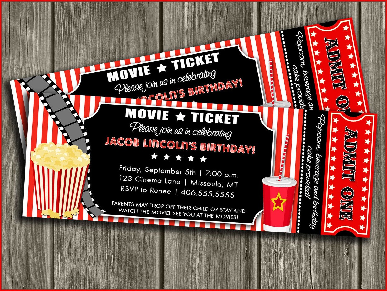 Cinema Ticket Invitation Template