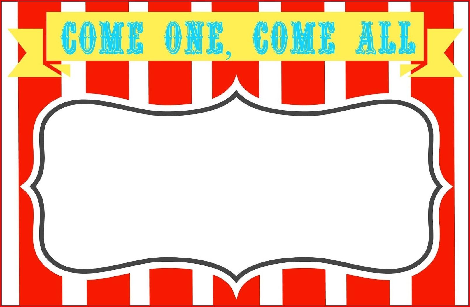 Circus Invitation Template Free
