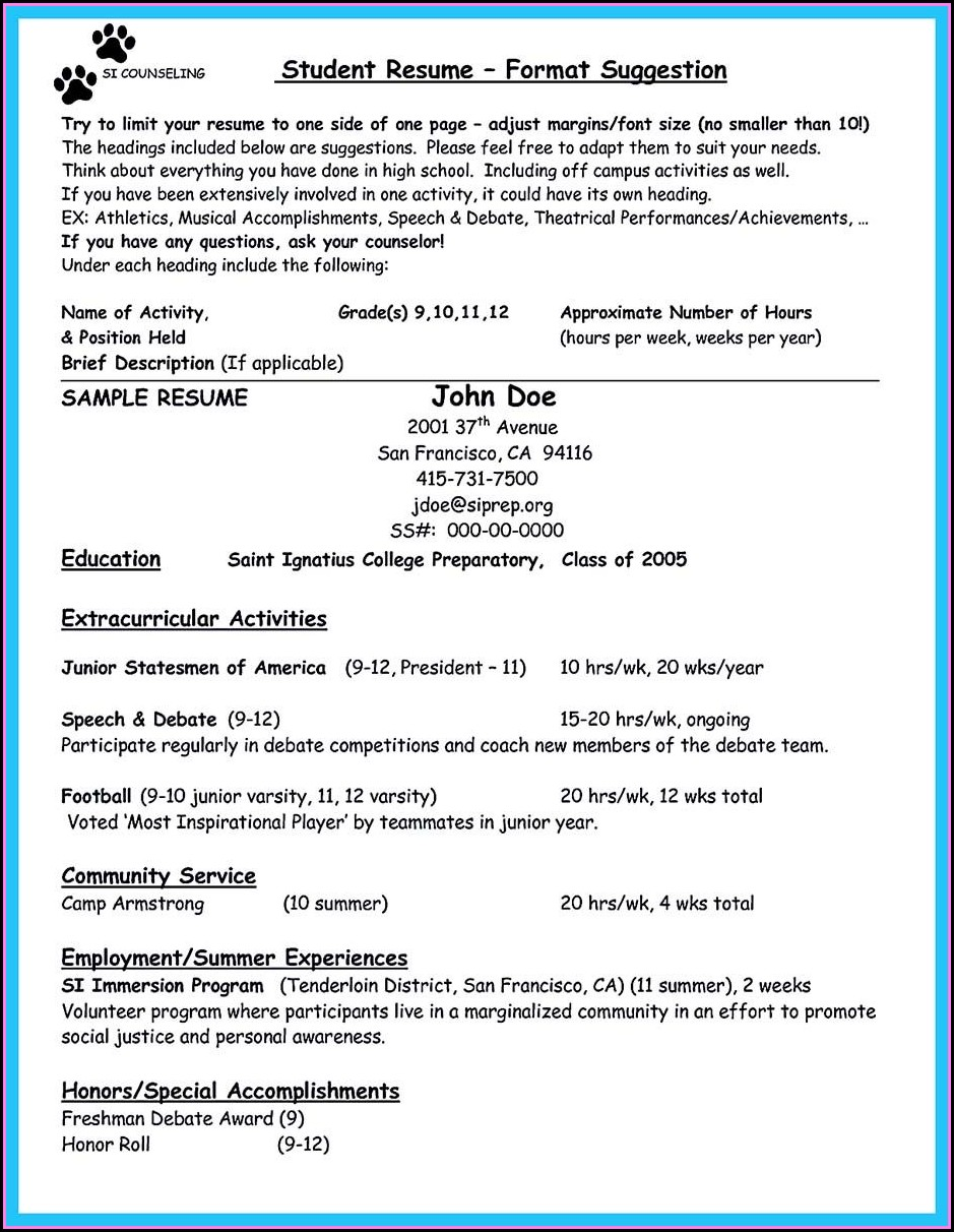 College Counselor Resume Template