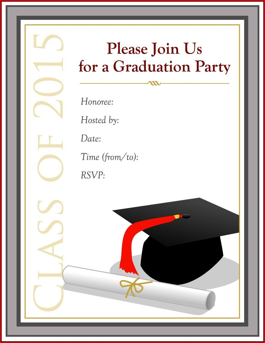 College Graduation Invitation Templates