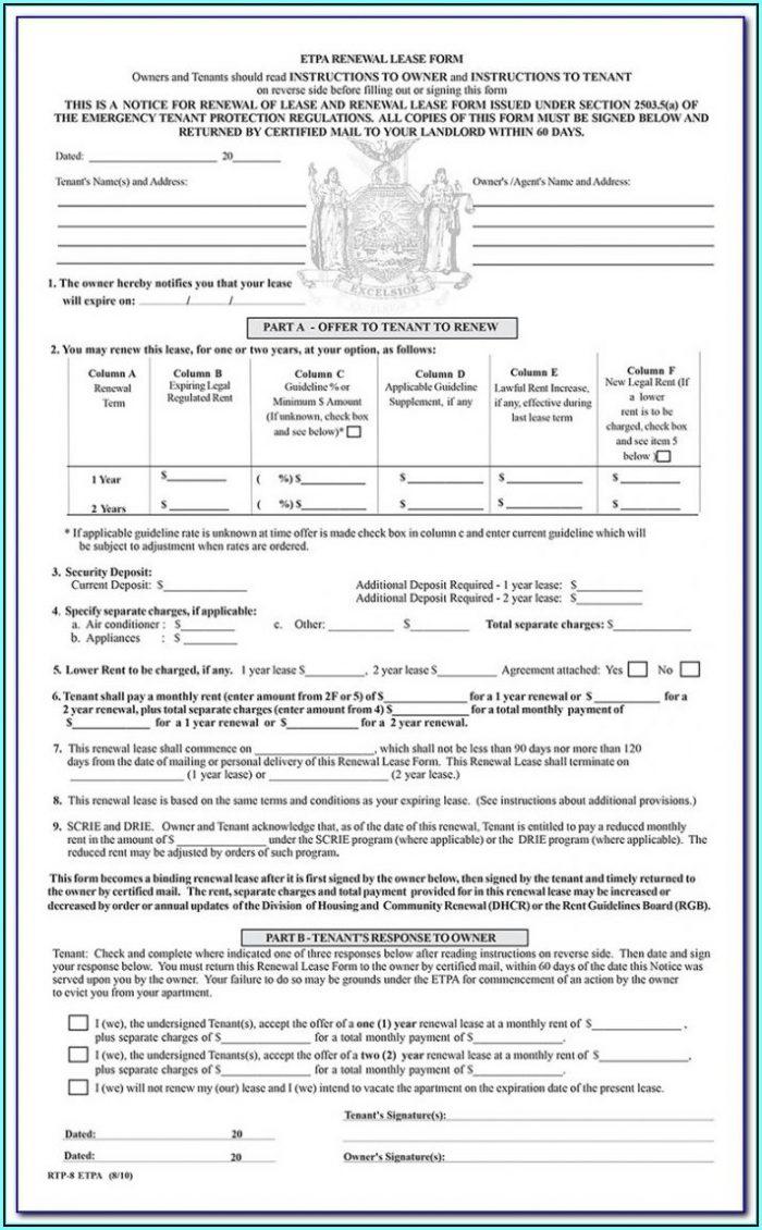 Condo Lease Renewal Form