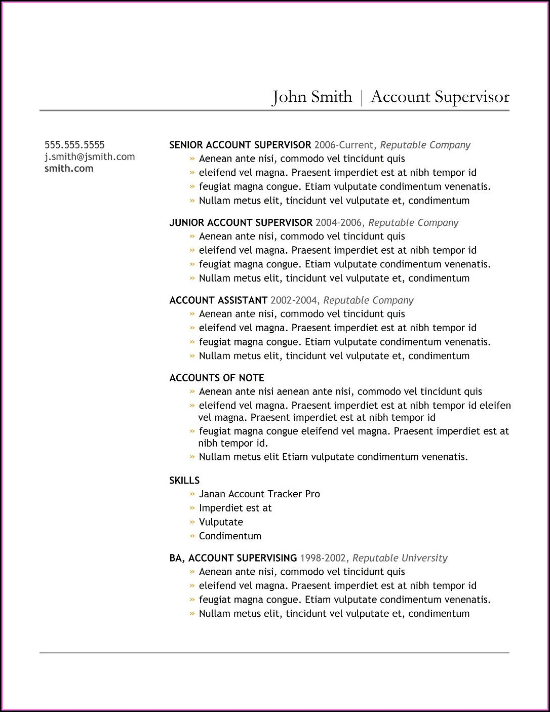 Construction Builder Resume Sample