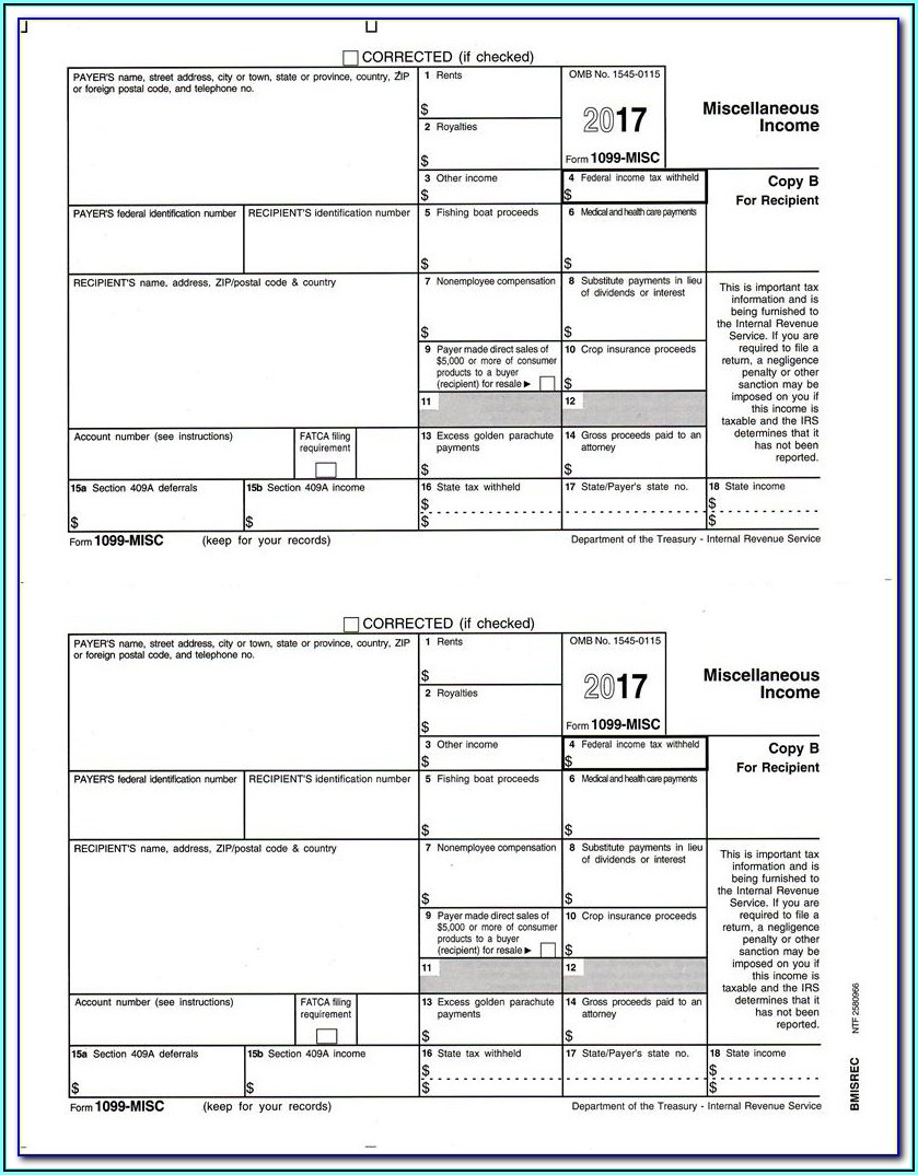 Copy 2 1099 Misc Form