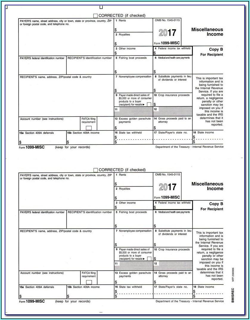 Copy 2 1099 Misc Form