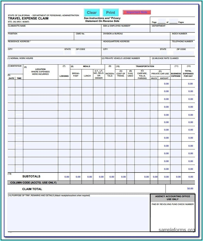 Corporate Travel Request Form Template