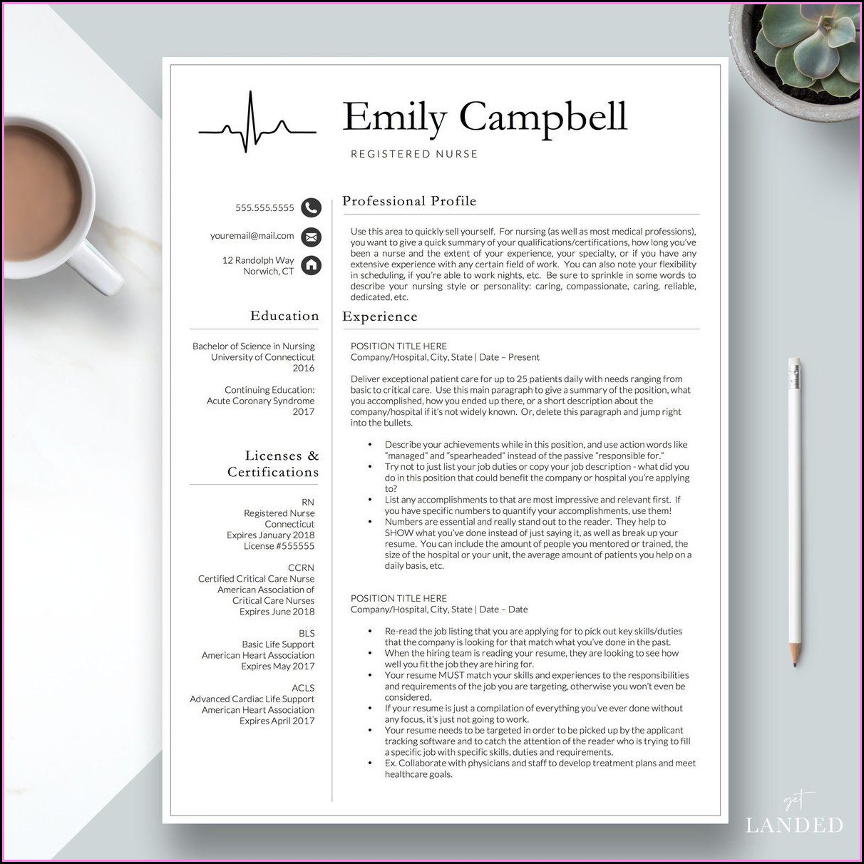 Cv Template For Nursing