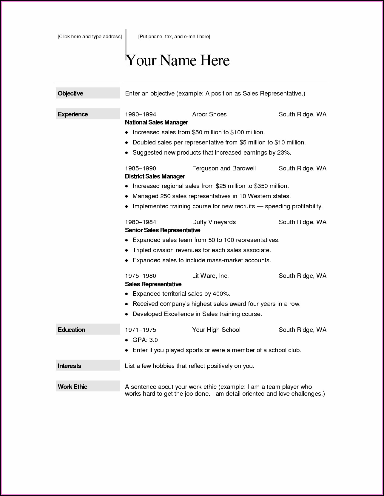 Download Resume Templates Free For Mac