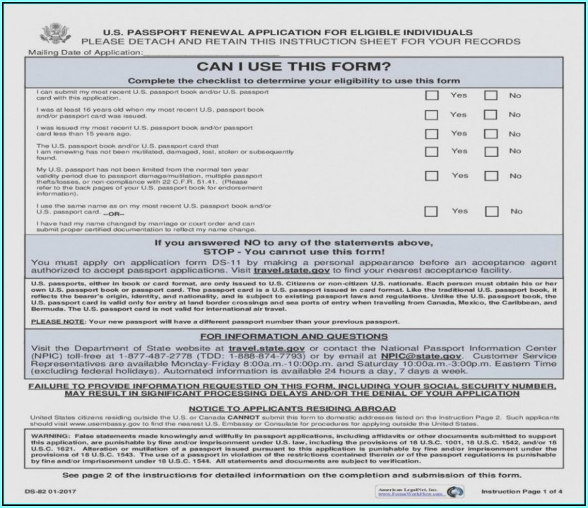 Ds 82 Form 2018