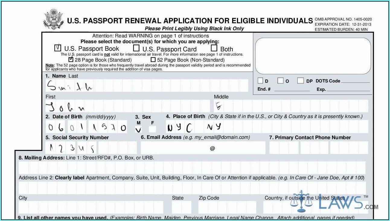 Ds 82 Form Passport Renewal