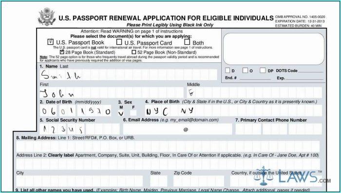 Ds 82 Form Us Passport