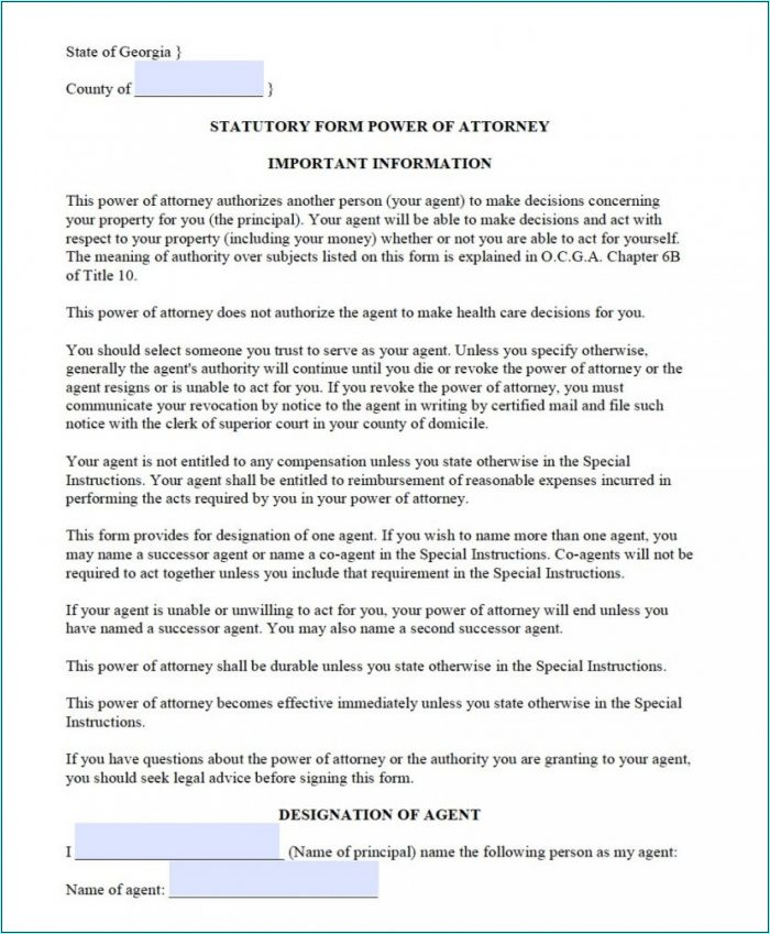 Durable Power Of Attorney Texas Form
