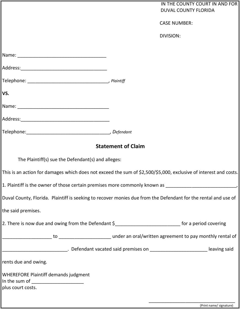 Duval County Divorce Paperwork