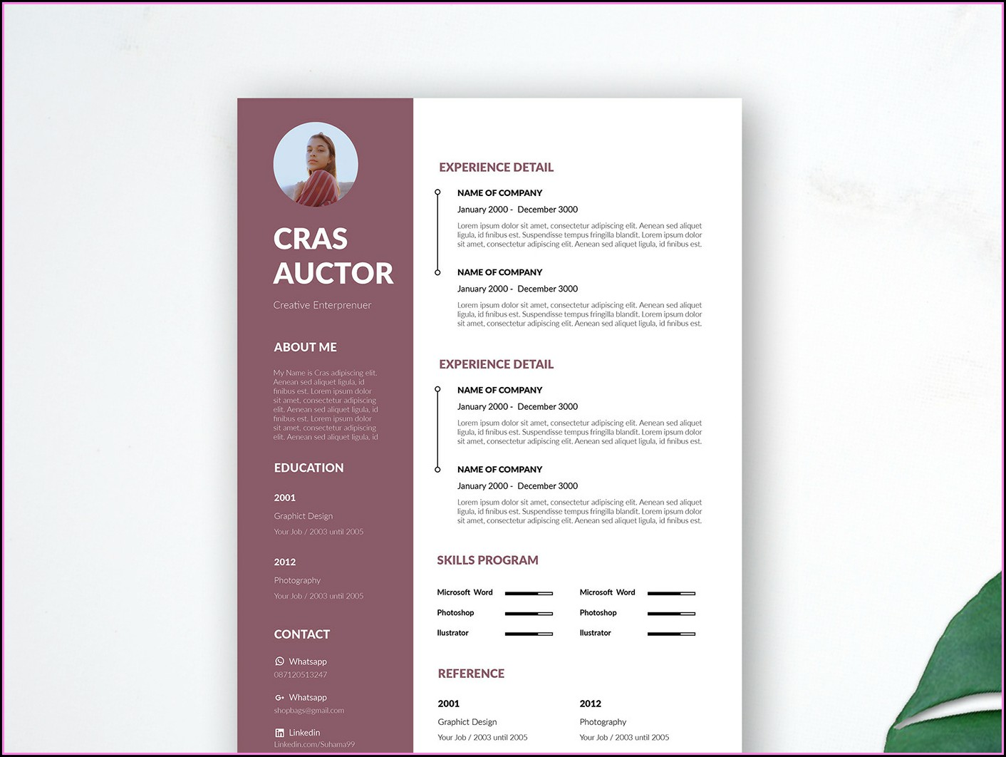 Editable Resume Template Free Download