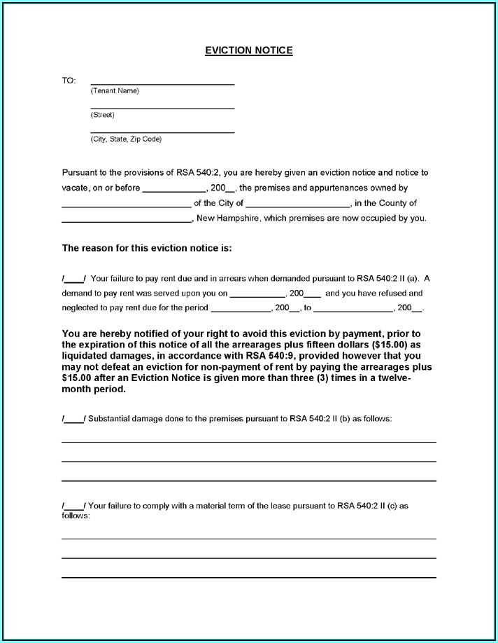 Eviction Form Letter