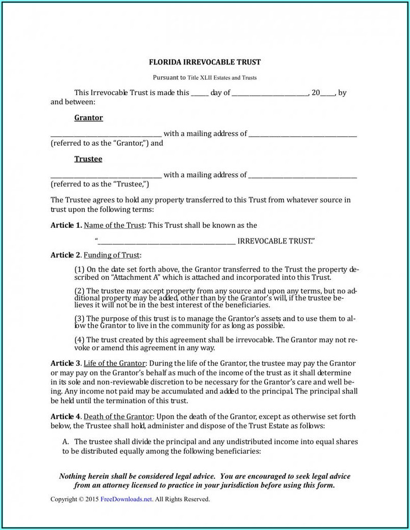 Example Quit Claim Deed Form Florida